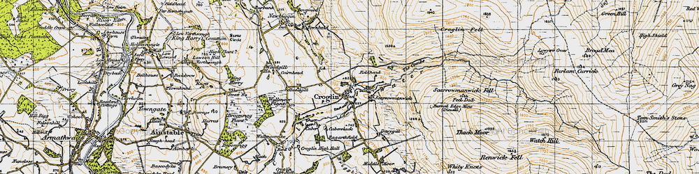 Old map of Croglin in 1947