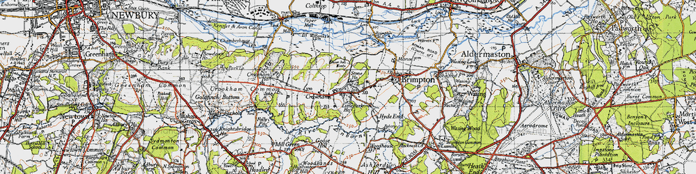 Old map of Crookham in 1945