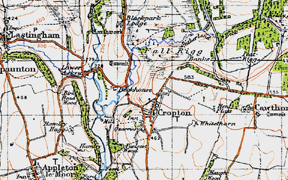 Old map of Cropton in 1947