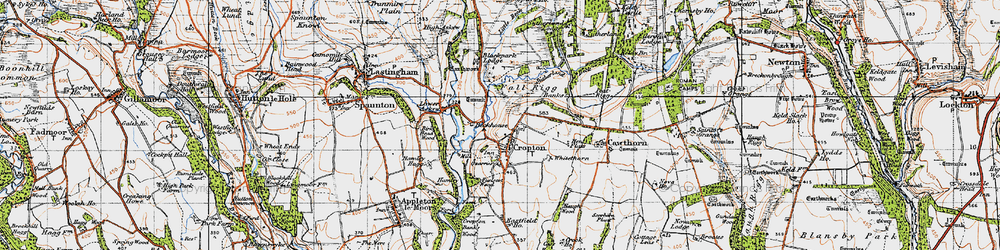 Old map of Whitethorn in 1947