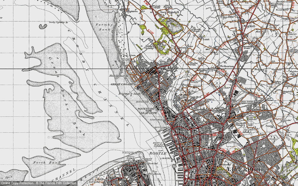 Old Maps of Crosby Francis Frith