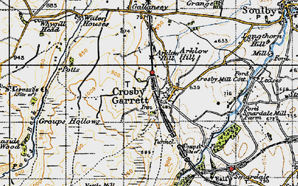 Old map of Arklow Hill in 1947