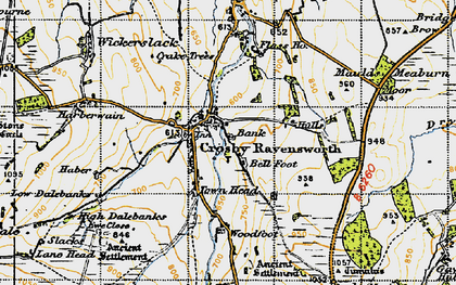 Old map of Bank Moor in 1947