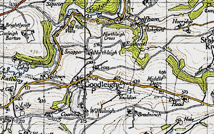 Old map of Youlden Ho in 1946