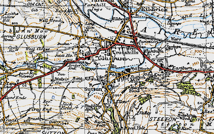 Old map of Ling Haw Hill in 1947
