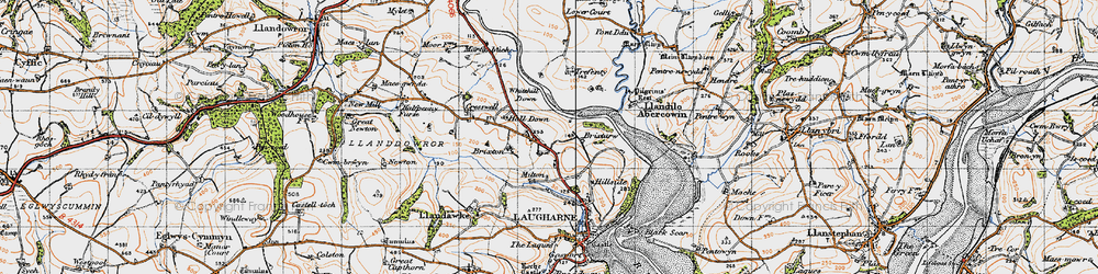 Old map of Whitehill Down in 1946