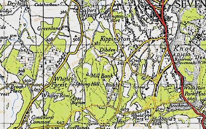 Old map of Cross Keys in 1946