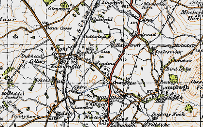 Old map of Lingcroft in 1947