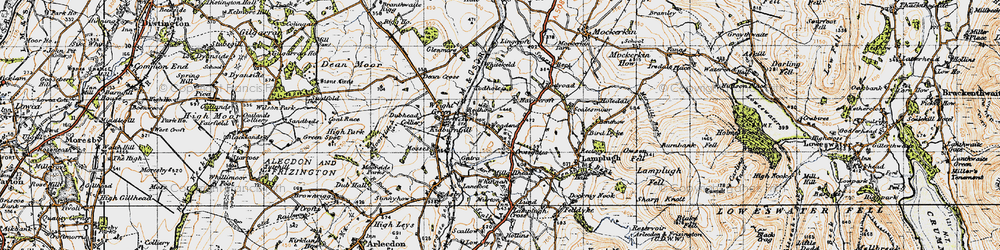 Old map of Todhole in 1947