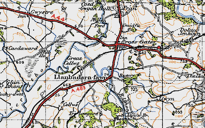 Old map of Crossgates in 1947