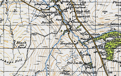 Old map of Ashgillside in 1947