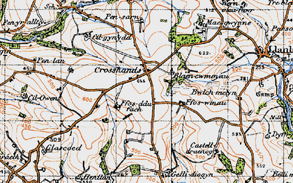 Old map of Crosshands in 1946