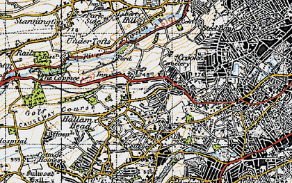 Old map of Crosspool in 1947