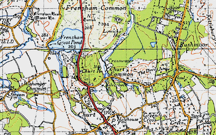 Old map of Crosswater in 1940
