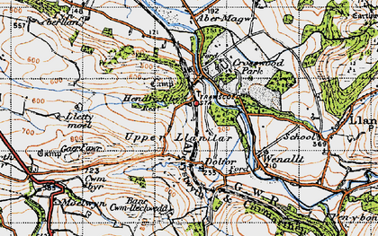 Old map of Crosswood in 1947