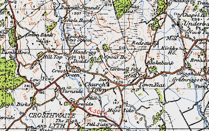 Old map of Crosthwaite in 1947