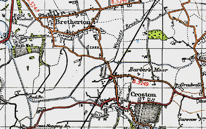 Old map of Croston in 1947