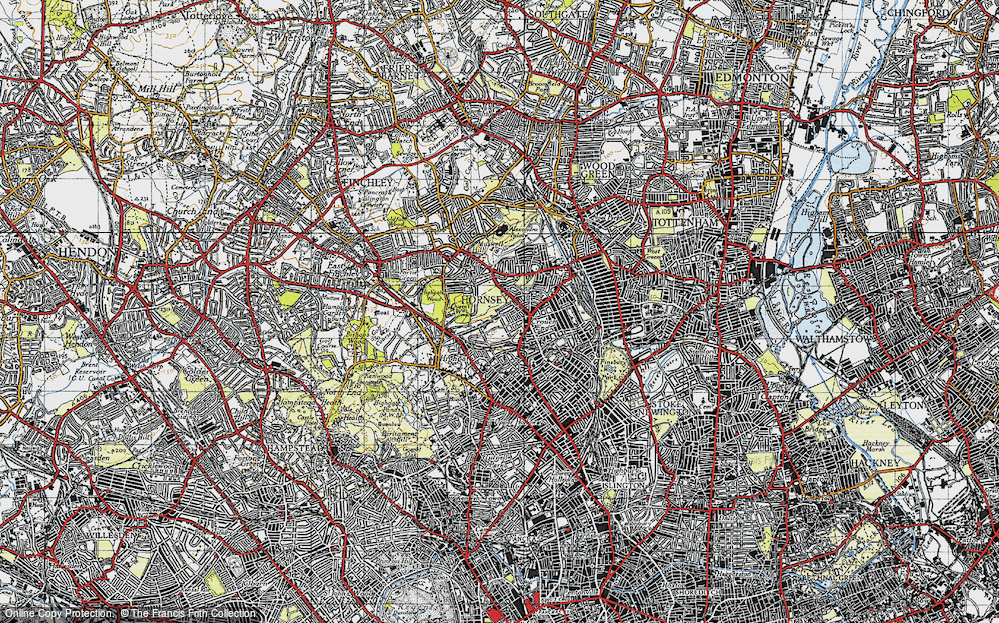 Old Map of Crouch End, 1945 in 1945