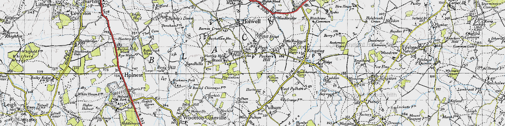 Old map of Westrow in 1945