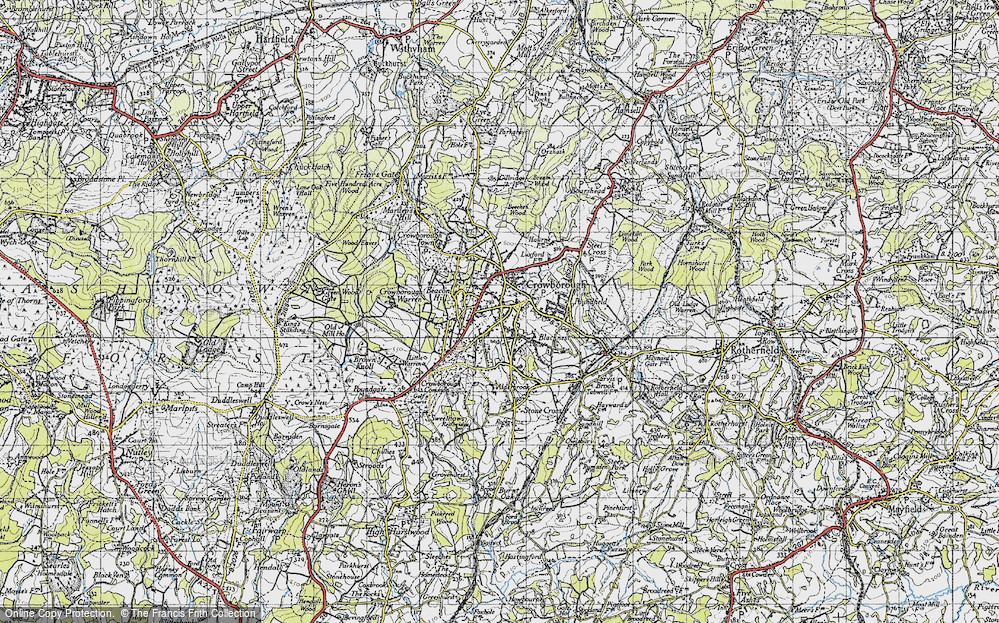 Old Map of Crowborough, 1940 in 1940
