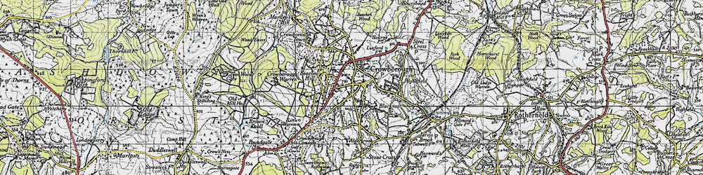 Old map of Crowborough in 1940
