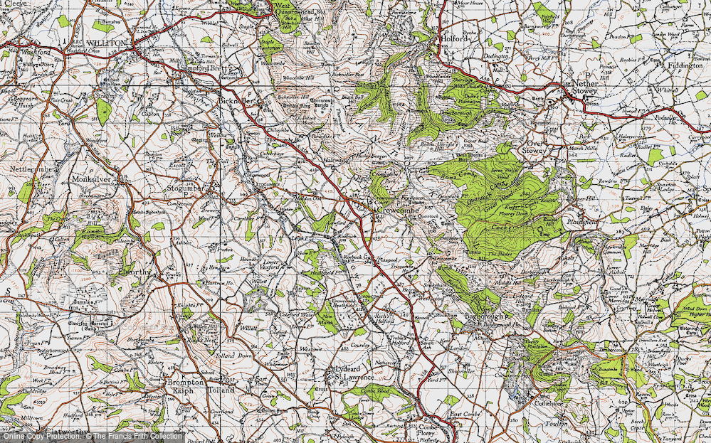 Old Map of Crowcombe, 1946 in 1946