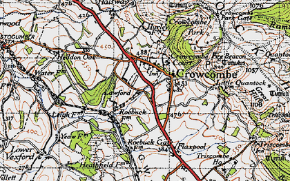 Old map of Crowcombe in 1946