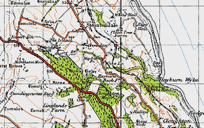 Old map of Wyke Lodge in 1947