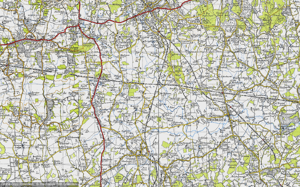 Old Map of Crowhurst, 1946 in 1946