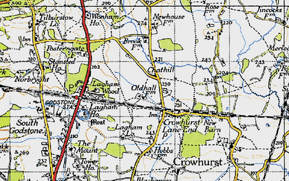 Old map of Crowhurst Lane End in 1946