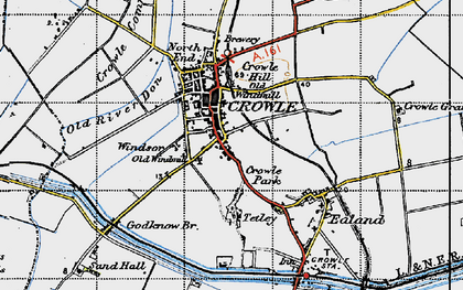 Old map of Crowle in 1947