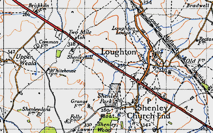 Old map of Crownhill in 1946