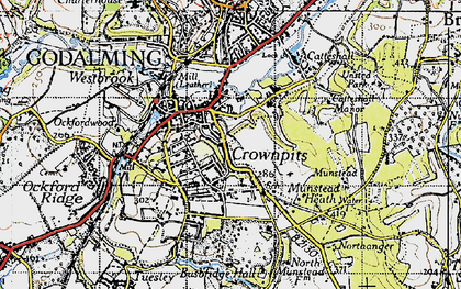 Old map of Crownpits in 1940