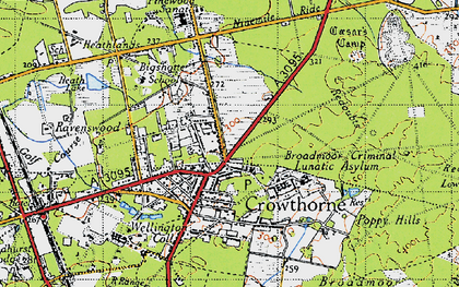 Old map of Crowthorne in 1940