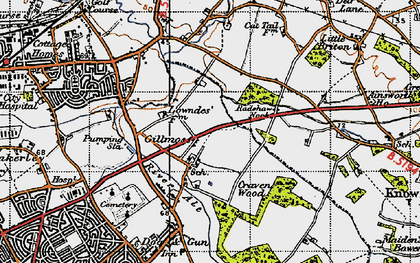 Old map of Croxteth in 1947