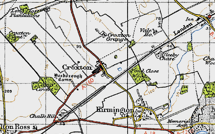 Old map of Yarborough Camp in 1946