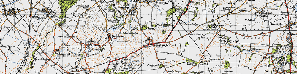 Old map of Tipping's Lodge in 1946