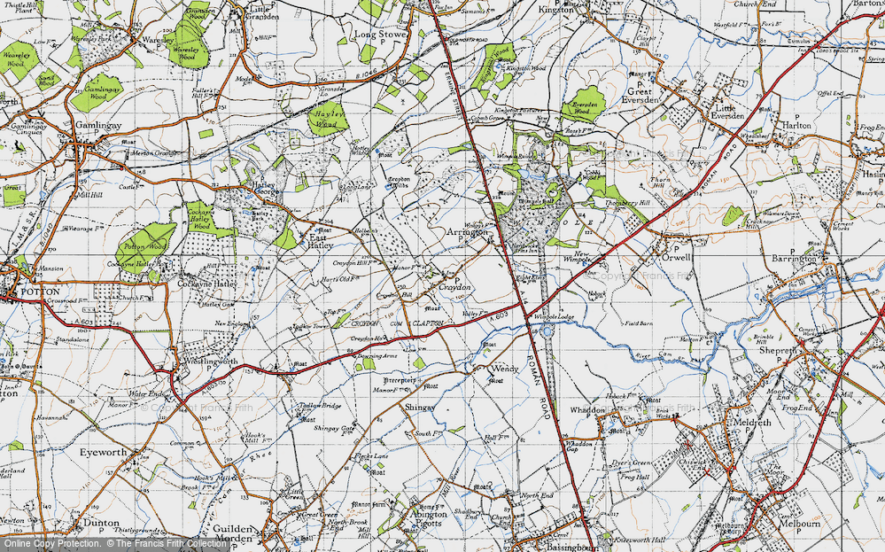 Old Map of Croydon, 1946 in 1946
