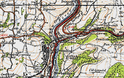 Old map of Crumlin in 1947
