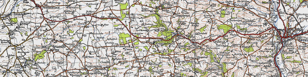 Old map of West Ruckham in 1946