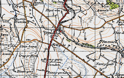 Old map of Crymych in 1946