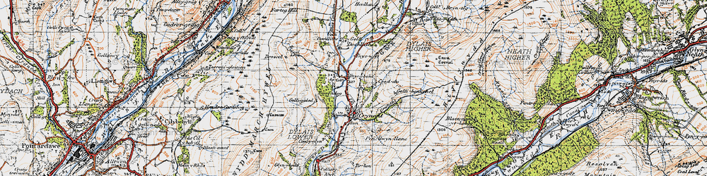 Old map of Crynant in 1947