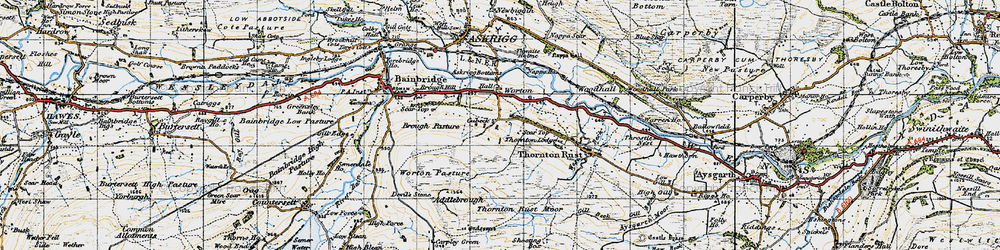 Old map of Addlebrough in 1947