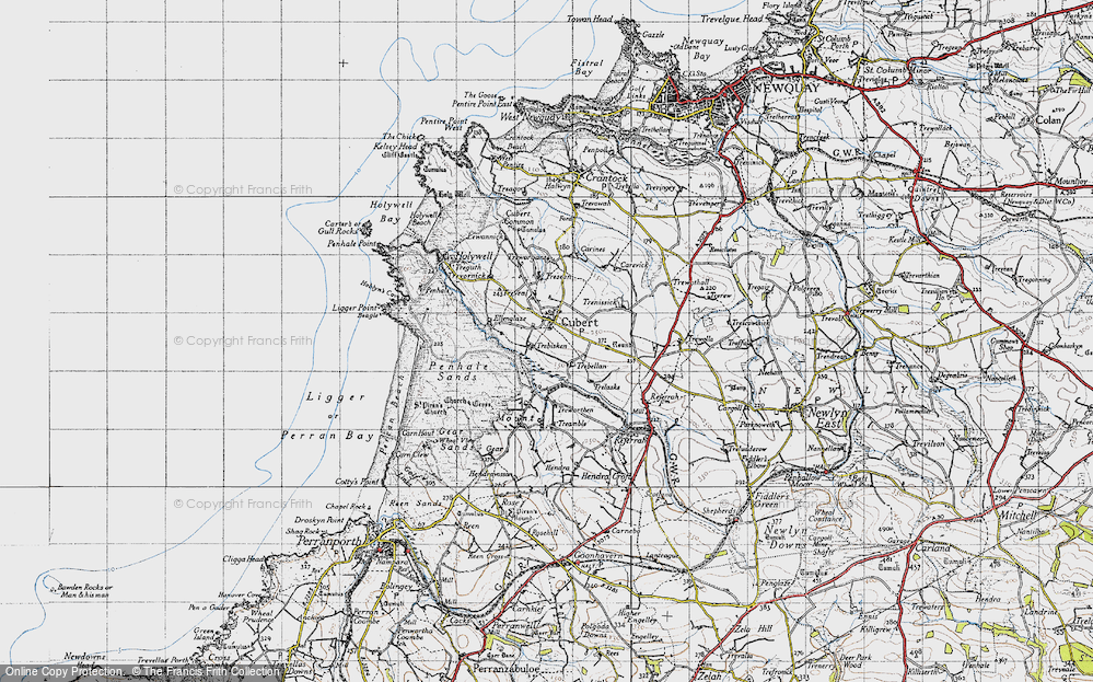 Old Map of Cubert, 1946 in 1946