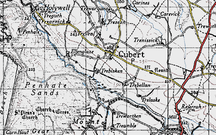 Old map of Cubert in 1946