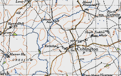 Old map of Cublington in 1946