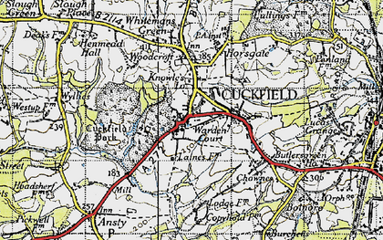 Old map of Cuckfield in 1940