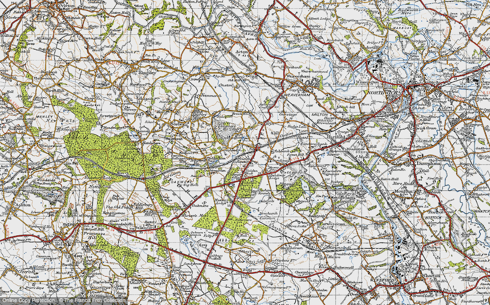 Old Map of Cuddington, 1947 in 1947
