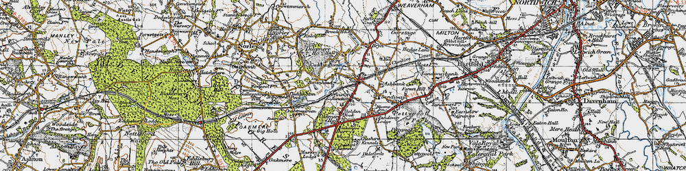 Old map of Cuddington in 1947