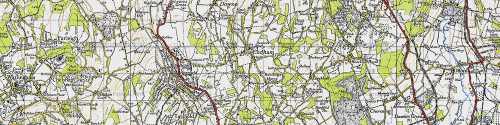 Old map of Cudham in 1946